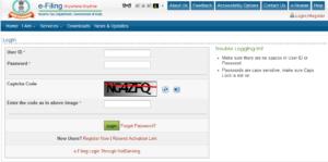 Enter login details