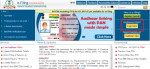 Login to e-filing website
